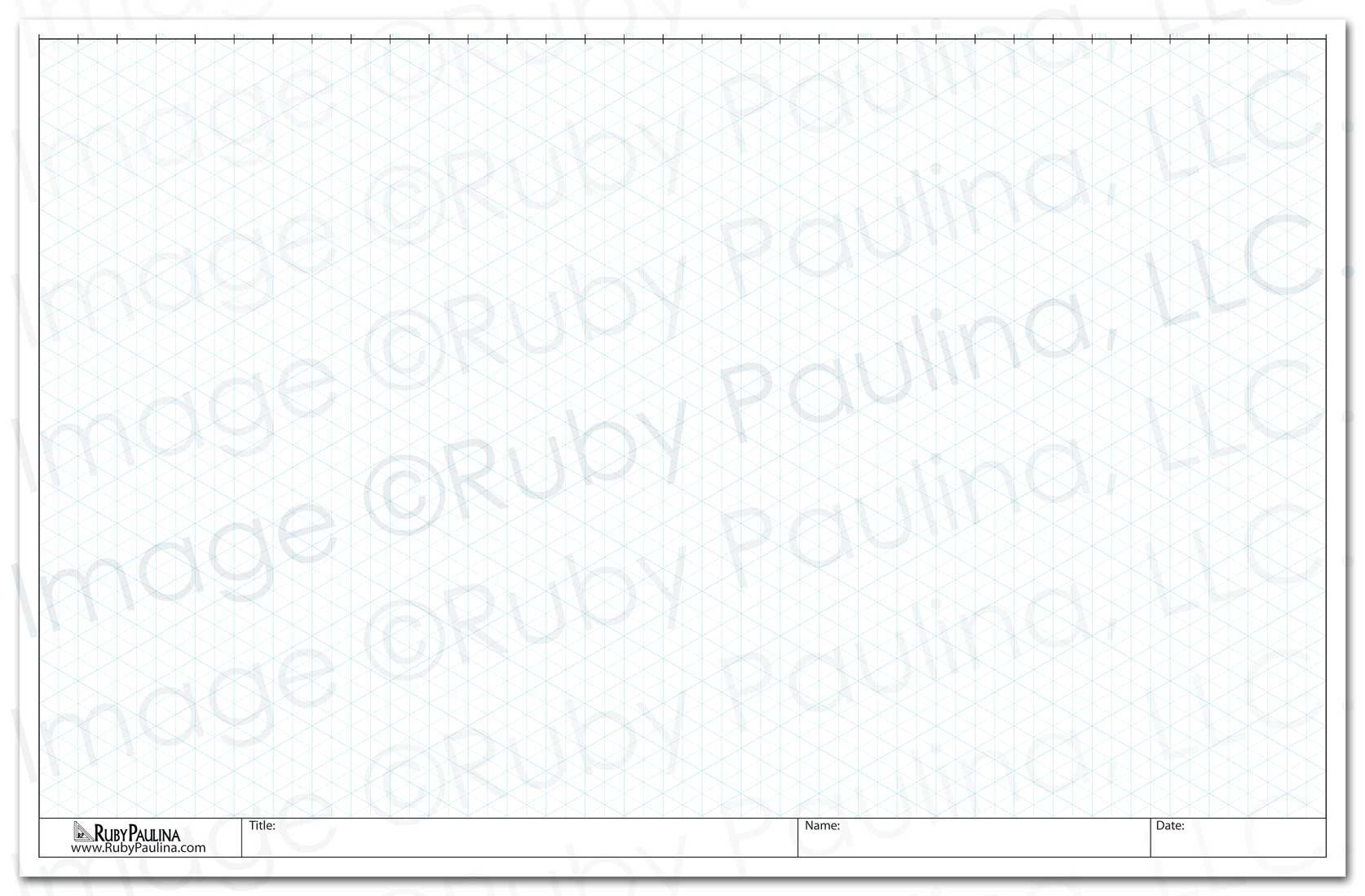 11x17 Loose Leaf Isometric Paper, White (579180) by Ruby Paulina LLC