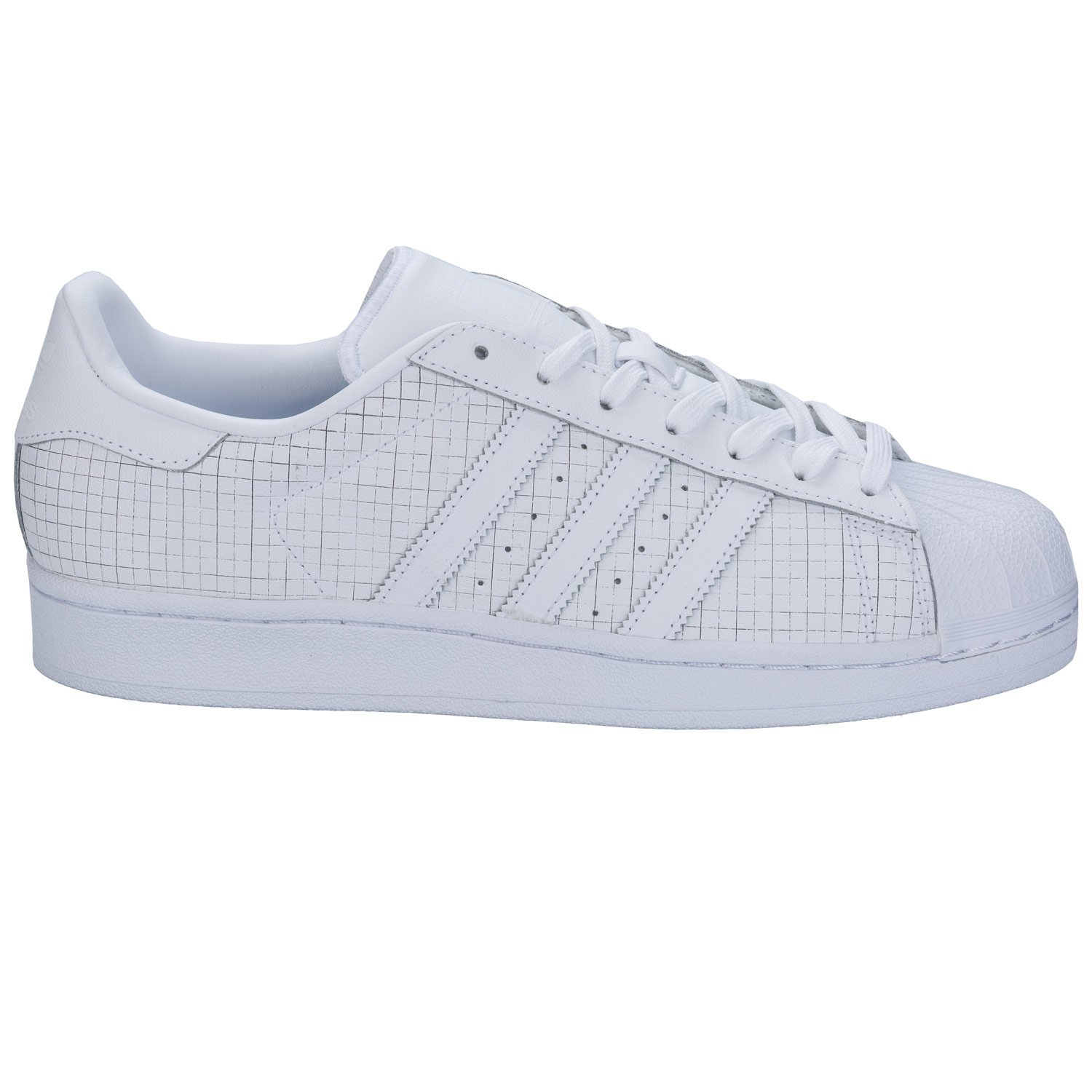 ADIDAS SUPERSTAR TOTAL WHITE AQ8334 - 44-2-3, BIANCO