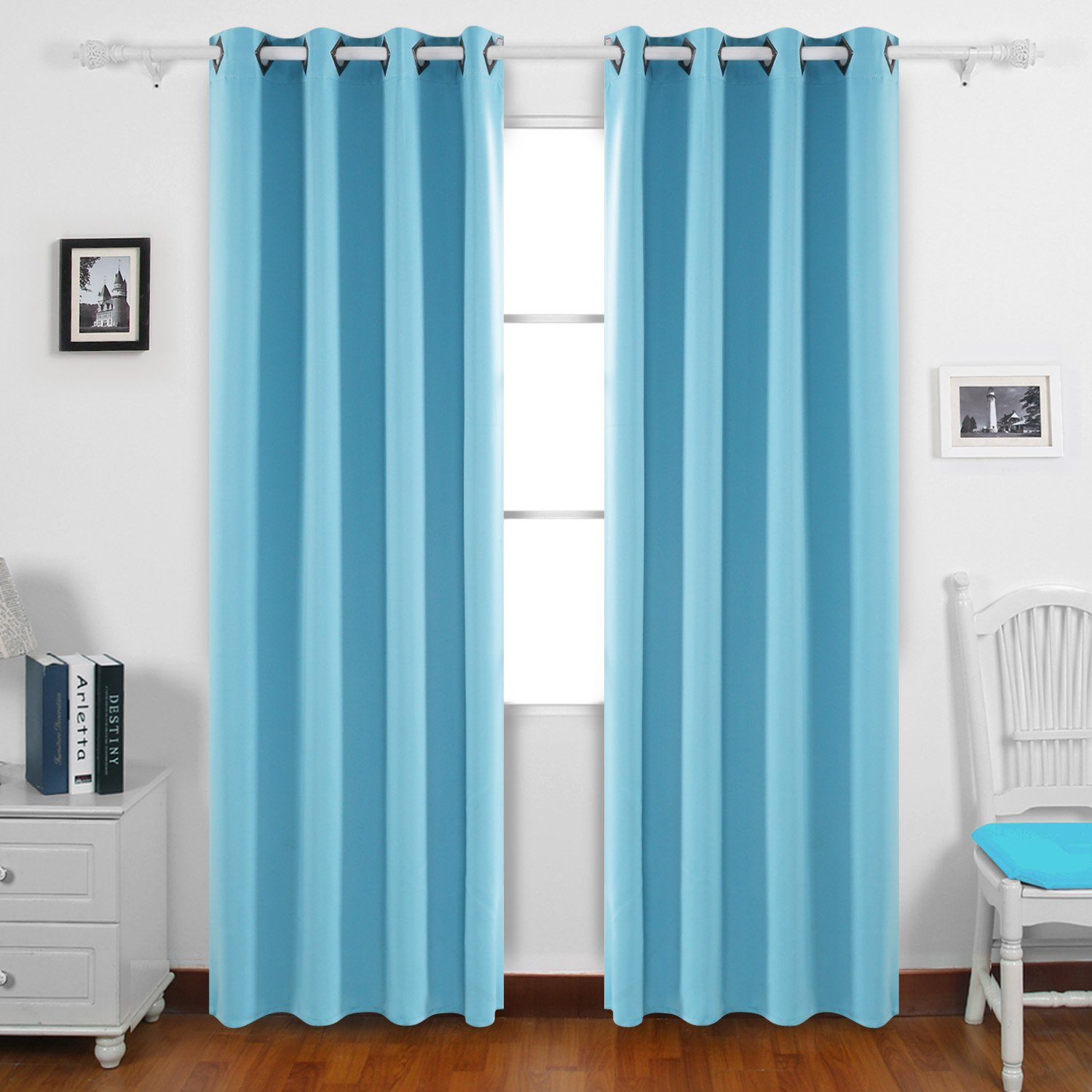 top home amazon of print kitchen luxury room design faux curtain floral mysky thermal insulated linen grommet curtains