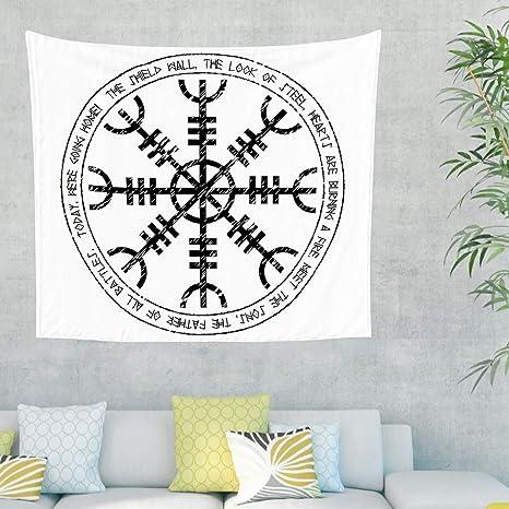 Casco celta de la hormiga escandinavo, runas de tatuaje, pared ...