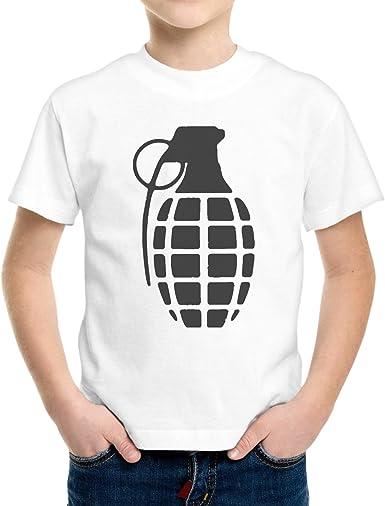 Camiseta Niño Niño Bomba Negra Minimal Black Bomb - Bianco 12/14 Años: Amazon.es: Ropa y accesorios