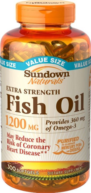 Sundown Naturals Extra Strength Fish Oil 1200mg, Softgels 300 ea (Pack of 11)