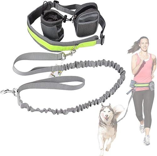 Cadrim-Joggingleine-Hund-mit-verstellbarem-Hüftgurt-Bungee-Leine