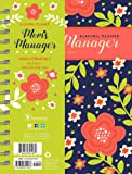 2018 Academic Year Mom's Floral Manager Medium Weekly Monthly Planner