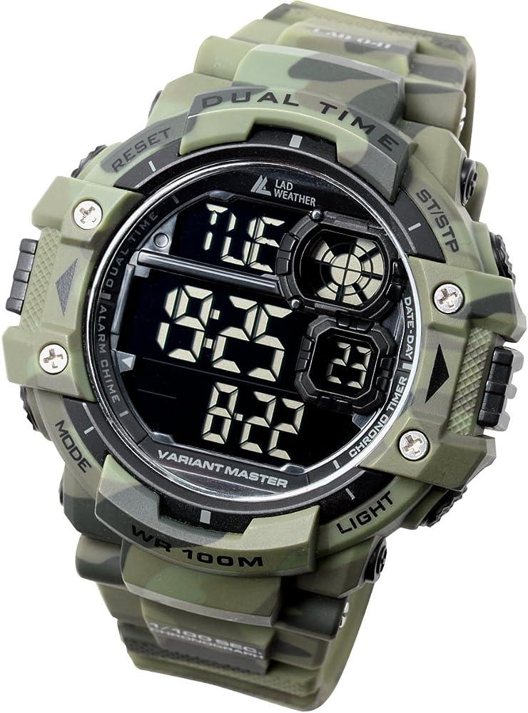 LAD WEATHER Exteriores Reloj Militar Cronómetro Marcador de Pasos ...