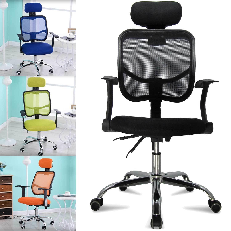 Farbwahl Höhenverstellung FEMOR Schreibtischstuhl Drehstuhl Bürostuhl Chefsessel sitzkomfort Bürodrehstuhl Binklusive Armlehnen Bandscheiben ergonomisches bis 130KG Orange