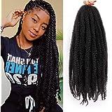 4 Packs Marley Hair for Twist 18 inch Marley Twist Braiding Hair DIY Butterfly Locs on Natural Hair Type 4C Crochet Braids Ha