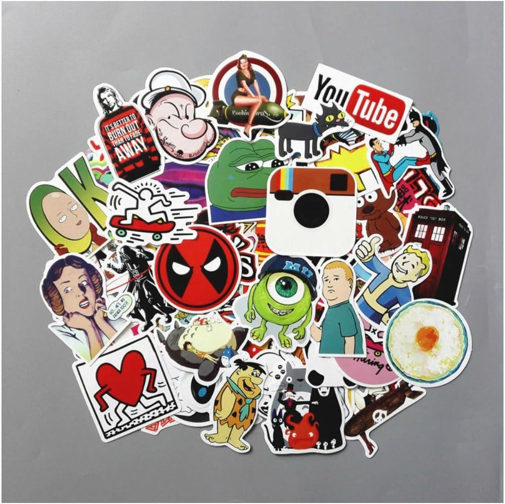 50 Skateboard Stickers bomb Vinyl Laptop Luggage Decals Cartoon Sticker Cool LOT