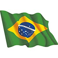 Artimagen Pegatina Bandera Ondeante Brasil pequeña 65x50 mm.