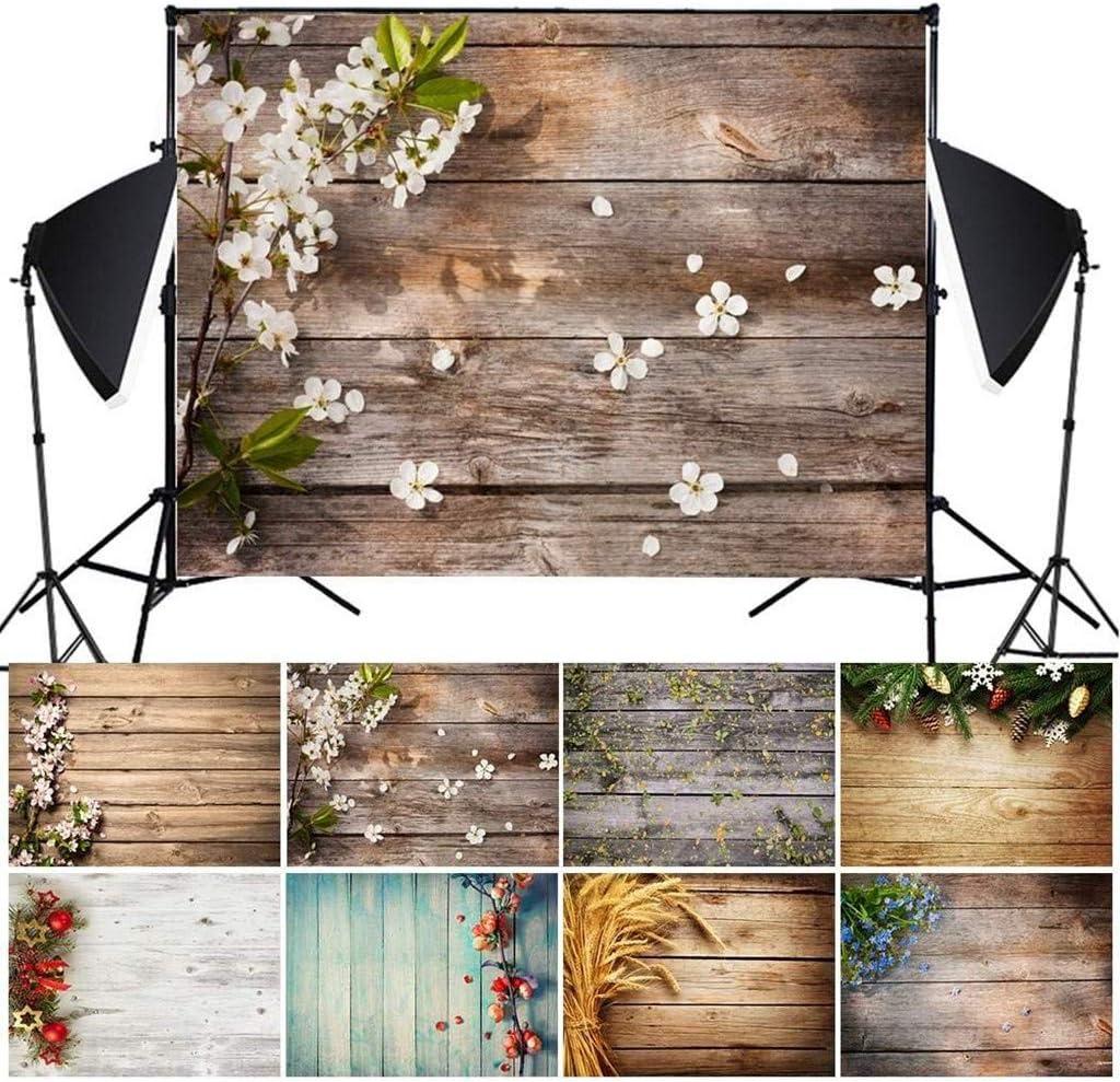 d/écoration et suspensions en Tissu Accessoires de Photographie en Imitation de Bois pr/ésentation LUCOG Fond de Photographie Fond de Photo 3D E