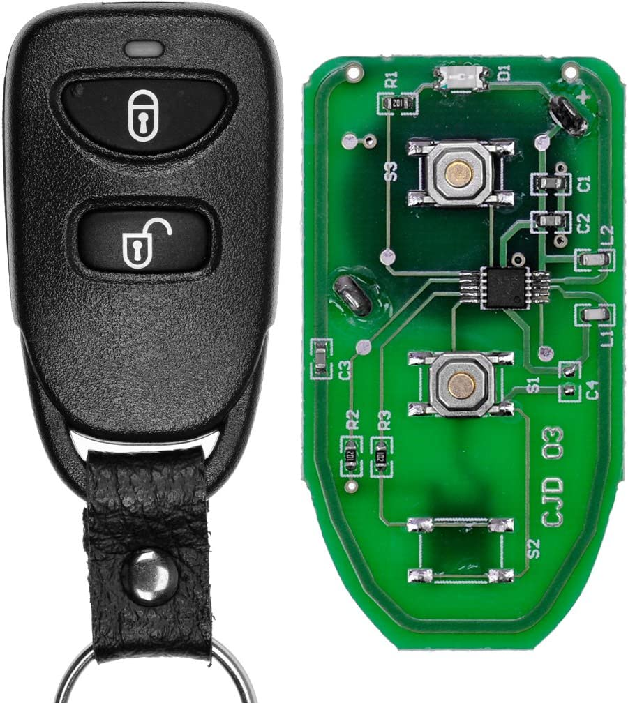 Auto Schlüssel Funk Fernbedienung 1x Funk Gehäuse 1x Elektronik