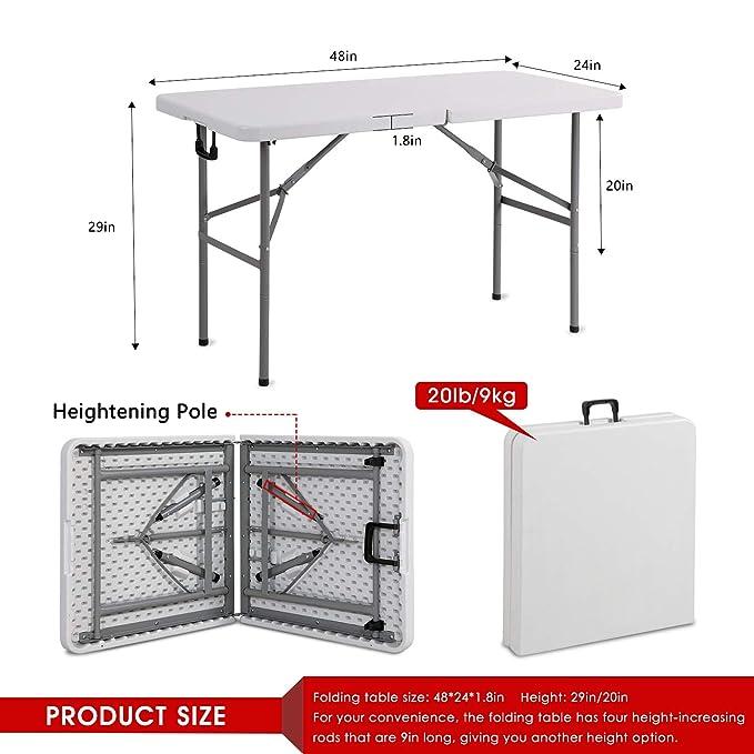 Amazon.com: Mieres Mesa de comedor plegable rectangular de ...