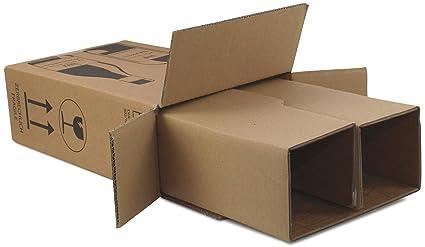 10 x Cajas de Cartón de botellas de vino de cartón para 2 ...