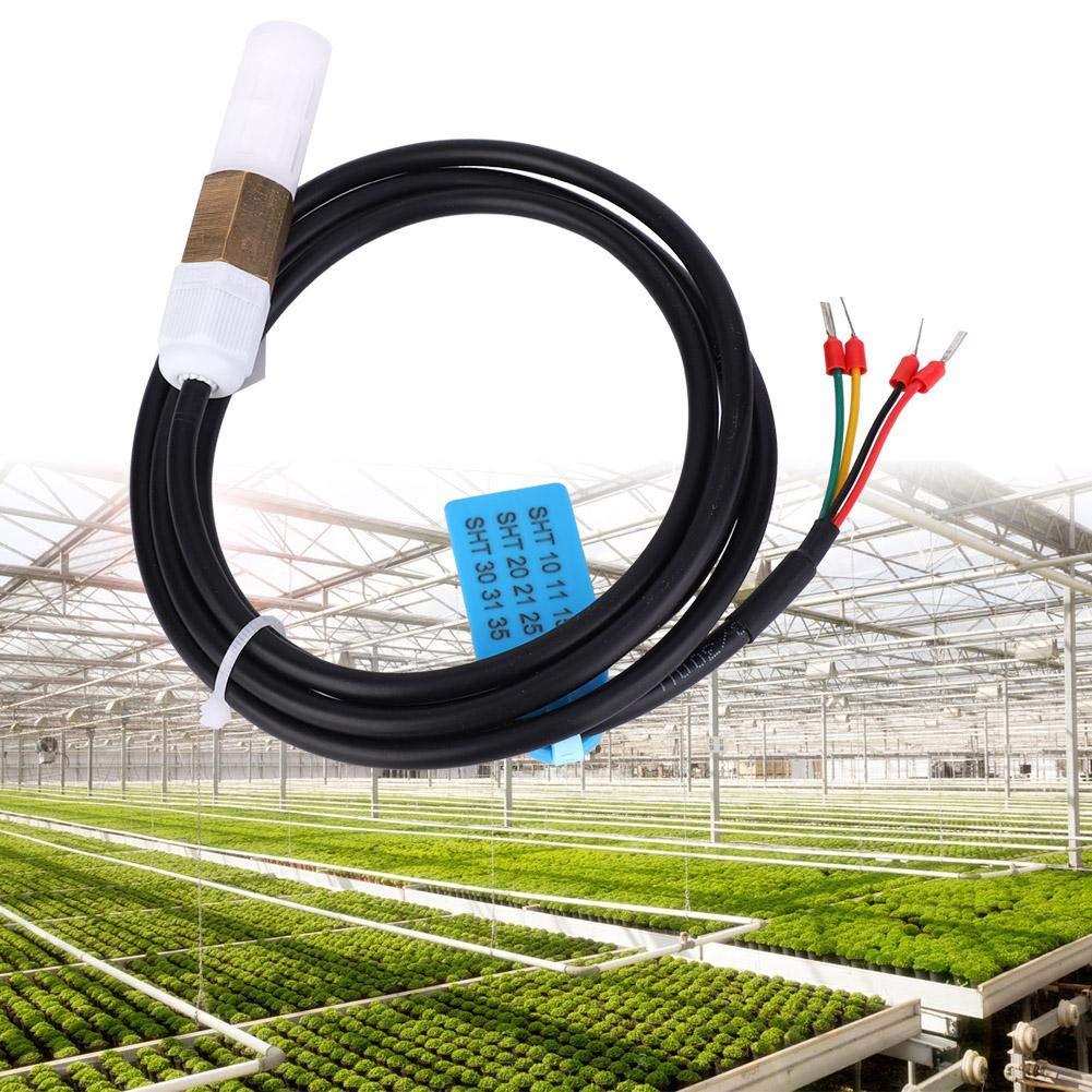 SHT30 FS400-SHT3X Soil Digital Temperature Humidity Sensor Probe Copper and Plastic Shell I2C Output