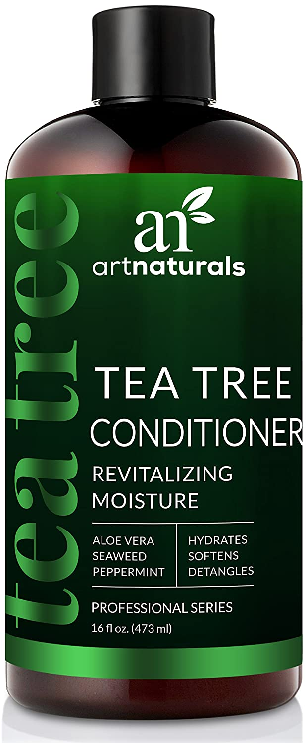 ArtNaturals Tea-Tree-Oil Shampoo and Conditioner Set - (2 x 16 Fl Oz / 473ml) – Sulfate Free – Therapeutic Grade Tea Tree Essential Oil - Deep Cleansing for Dandruff, Dry Scalp and Itchy Hair