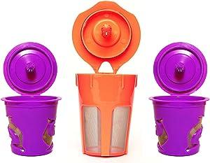 Premium Reusable K-Carafe and K-Cup Coffee Filters Pod Combo for Keurig 2.0, K200, K300, K400, K500 Series