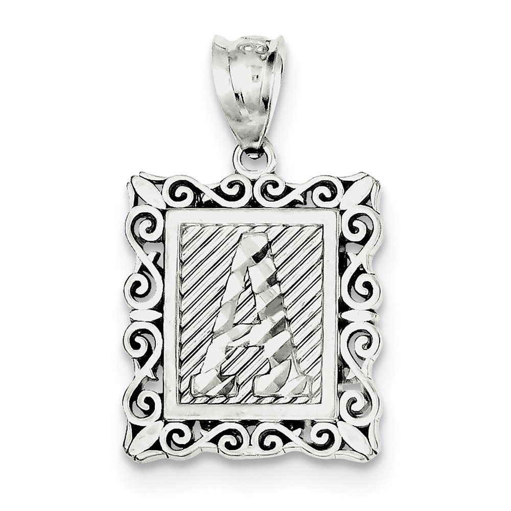 FB Jewels Solid Sterling Silver Initial A Charm