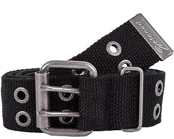 2Stoned Nieten-Gürtel Stoff mit Dornschließe in Schwarz 4 cm breit, 95 cm  lang 50adc9a075e