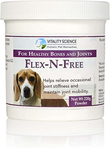 Vitality Science Flex N Free for Dogs Promotes Healthy Bones Joints Relieves Joint Stiffness Maintains Joint Mobility Reduces Inflammation Builds Healthy Bone Tissue 100 Safe Natural