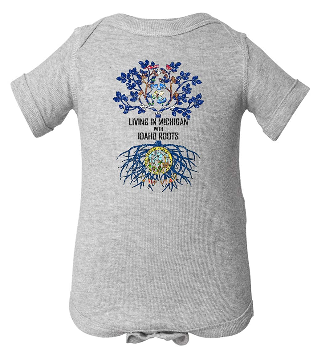 Tenacitee Babys Living in Michigan Idaho Roots Shirt