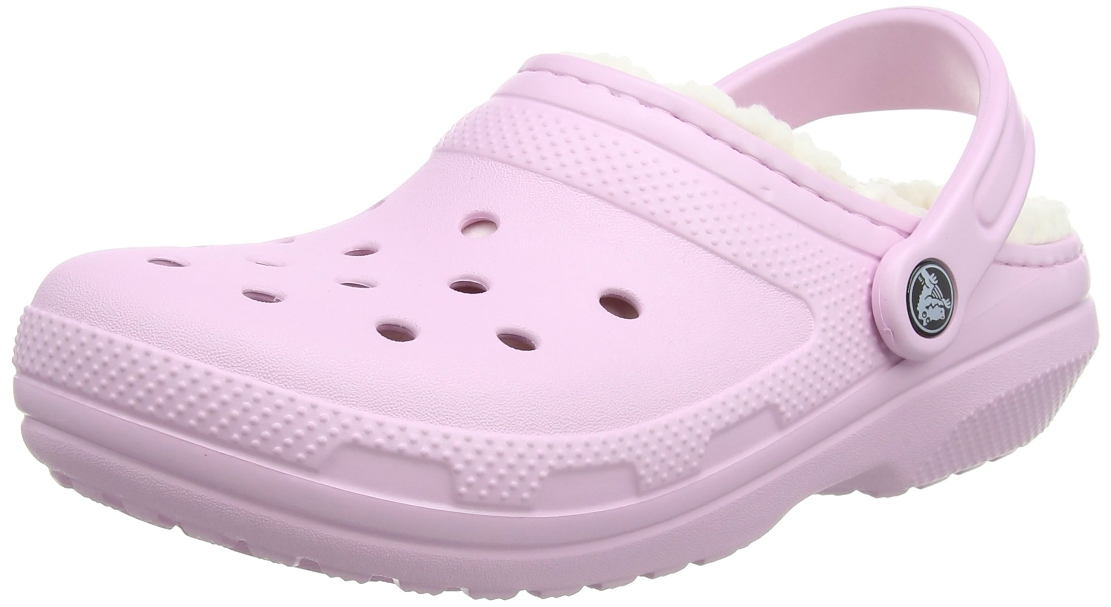 Crocs Unisex Classic Lined Clog,Ballerina Pink/Oatmeal,4 US Men / 6 US Women