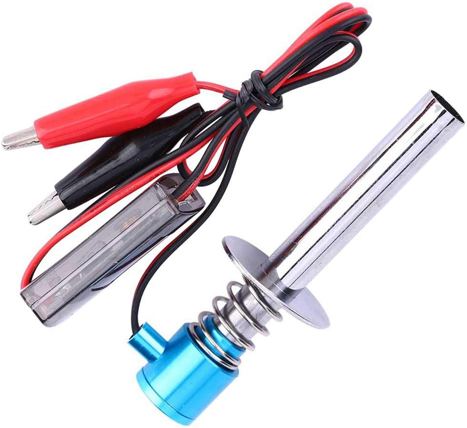 24V Electronic Glow Plug Starter Igniter Fit for Nitro RC Car Engine-Blue Nrpfell 6V