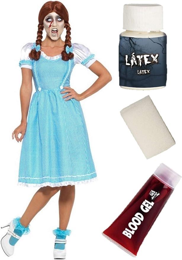 Disfraz de Gemela Fantasma con set de maquillaje: Amazon.es: Ropa ...