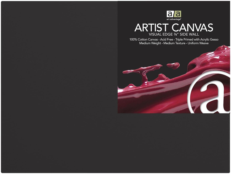 Art Advantage Artist Canvas 9 by 12-Inch Black