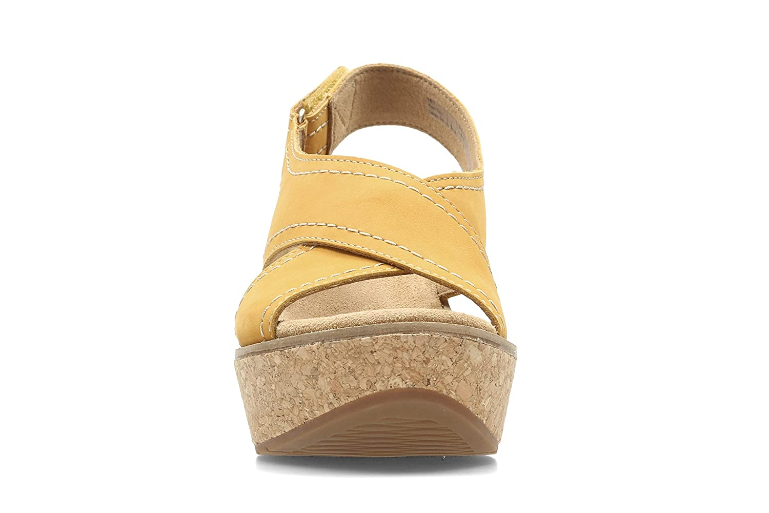 6f26f050ed428d Clarks Wedge Sandals Shoes 26123147 Aisley Tulip Yellow Size 40 Yellow   Amazon.co.uk  Shoes   Bags
