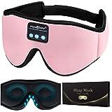 MUSICOZY Sleep Headphones 3D Bluetooth Wireless Sleep Mask, Sleeping Headphones Music Eye Mask for Side Sleepers, Air Travel,