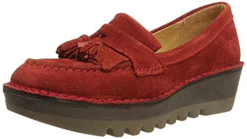 Fly London Juno, Women's Loafers, Red (Red), 3 UK (36