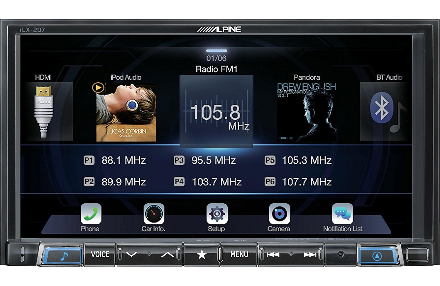 Amazon.com: Alpine iLX-207 7-Inch Mech-Less Audio/Video Receiver: Electronics