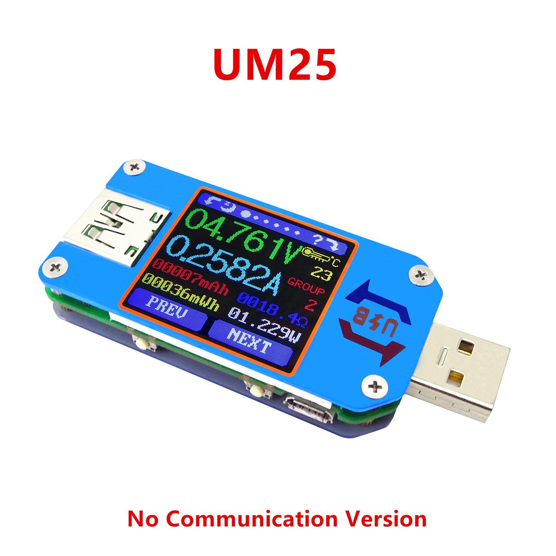 ARCELI APP USB 2.0 Type-C LCD Voltm/ètre amp/èrem/ètre Tension Courant Compteur Batterie c/âble de Charge r/ésistance USB testeur