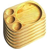 Artema - Plato de Madera con Porta Salsas