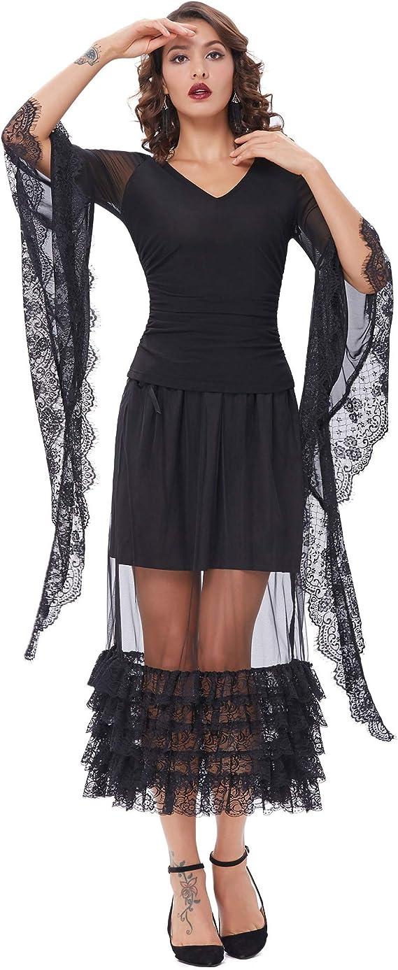 Elegante Falda de Encaje de Verano con Volantes de Encaje Cintura ...
