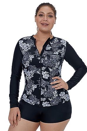 605be04895 Eozy Vêtement pour Natation Zippé Simple Fermeture Six Tailles Slim Maillot  de Bain Noir Utilisé