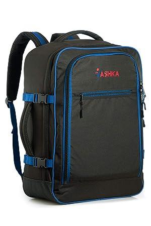 b0aad3139 Mochila Vaska aprobada para Vuelo. Bolsa de Mano Massive de 44 litros Maleta  de Viaje de Mano 55x40x20 cm - Azul Marino: Amazon.es: Equipaje