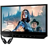 """XTRONS 13.3"""" Car Headrest Mount Monitor with 1 Bluetooth Headphone, 1080P Wide Screen with IPS Display Portable Video…"""