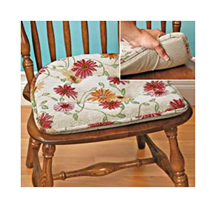 Marvelous 2   FLORAL TAPESTRY CHAIR CUSHION PAD     NO TIES TO ATTACH