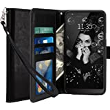 LK Case for LG Stylo 4, LG Q Stylus, [Wrist Strap] Luxury PU Leather Wallet Flip Protective Case Cover with Card Slots and Stand for LG Stylo 4/LG Q Stylus - Black