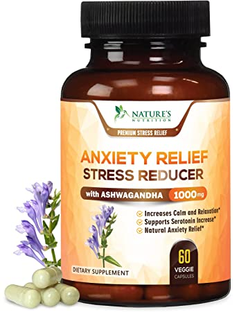 Premium Anxiety and Stress Relief Supplement - Natural Herbal Formula to Promote Calm, Positive Mood
