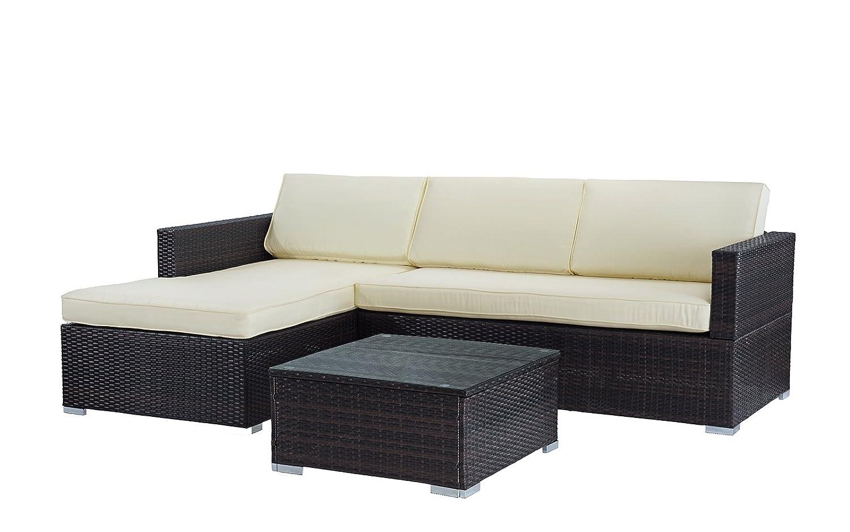 Divano Roma Furniture Modern Outdoor Garden, Sectional Sofa Set With Coffee  Table U2013 Wicker Sofa Furniture Set (Brown/Beige)