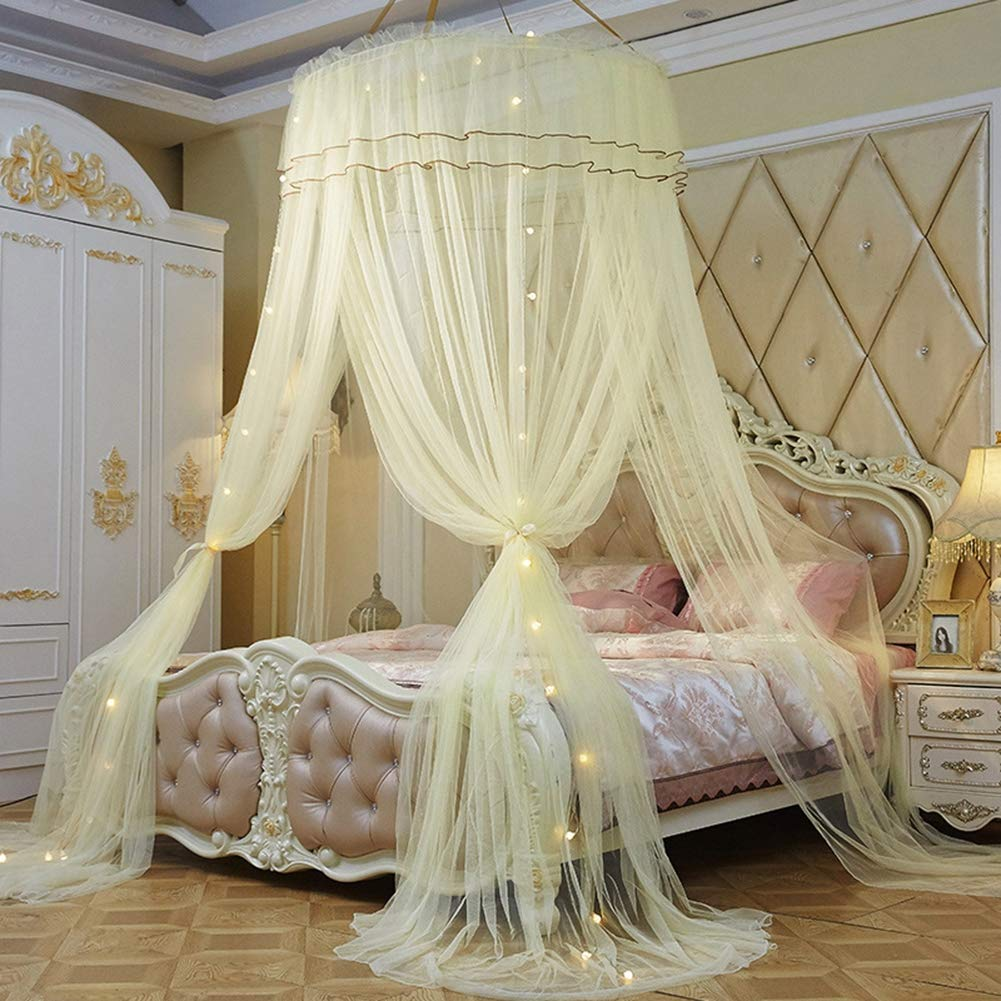 B Three Entry Dome Mosquito Net Bed Canopy Polyester 10 Meter Insect Predection for Home,E