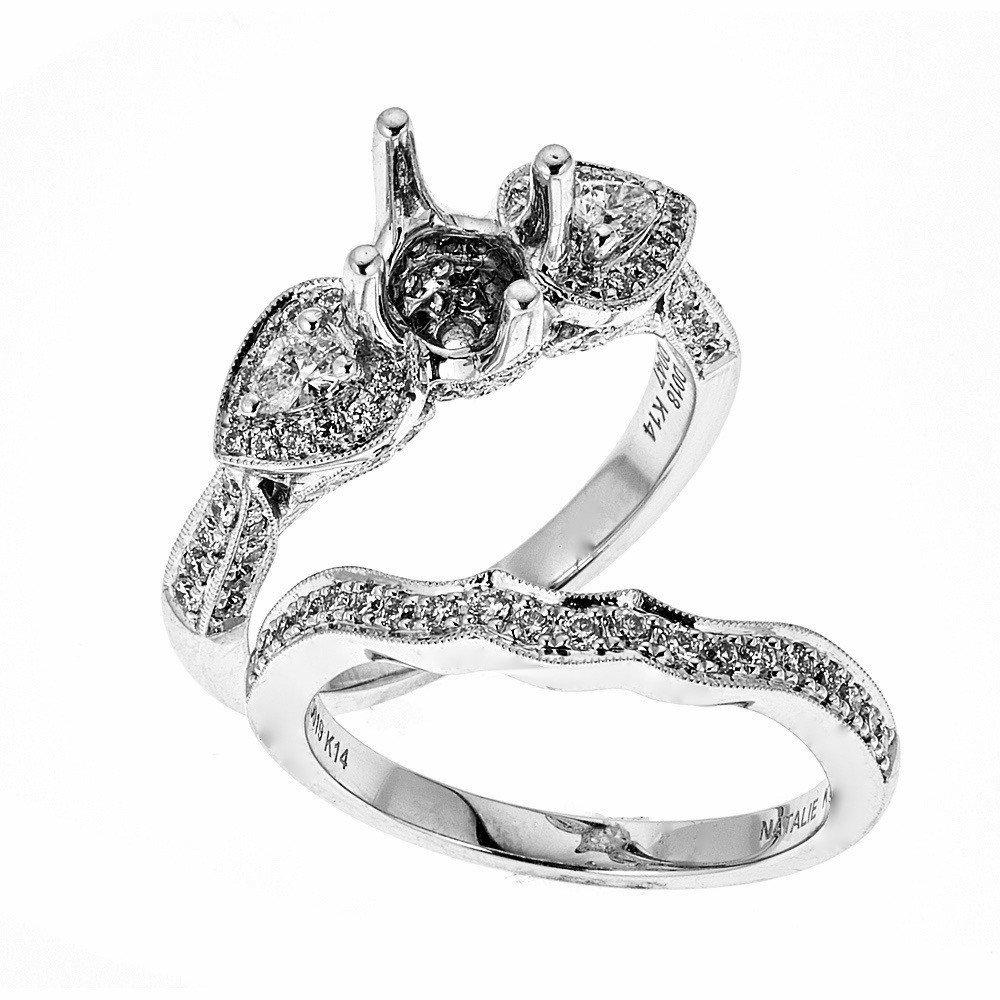 8f4e7037114bc Amazon.com: Natalie K 14k White Gold and Diamonds Wedding Set ...