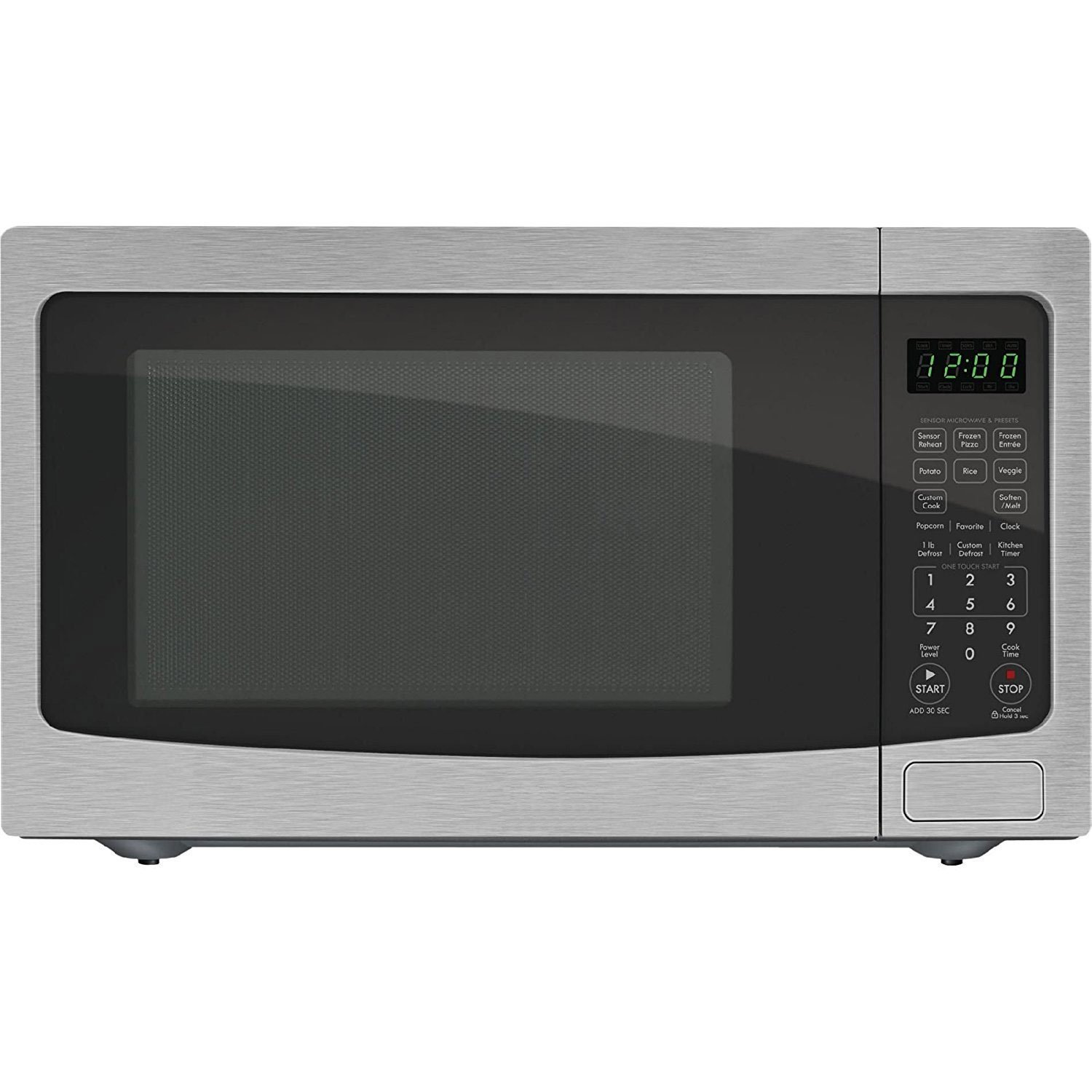 Chef Star CS72123 1.2 cu. ft. 1100-watts Countertop Microwave - Stainless Steel (Certified Refurbished)