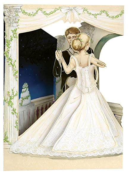 Amazon Com Santoro Interactive 3 D Swing Greeting Card Wedding