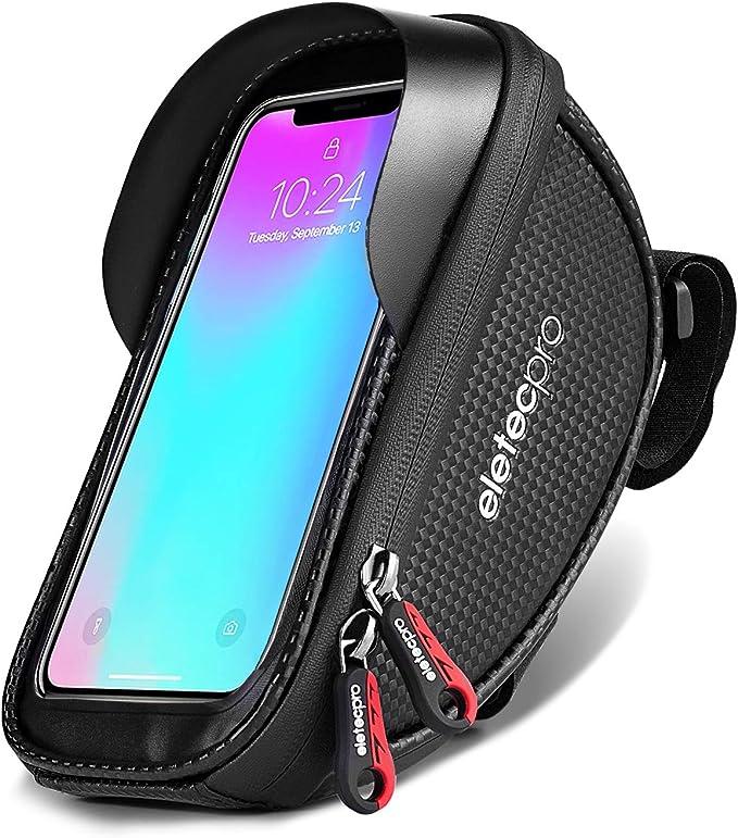 2pcs Waterproof  Bike Frame Front Bag Bicycle Mobile Phone Holder Bag Case S8L6