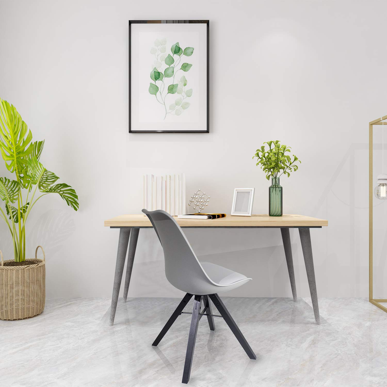 Heyesk Dining Room Chair Mid Century Modern Chairs,Upholstered Seat(Grey, 1) by heyesk (Image #2)