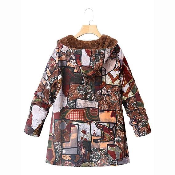 Amazon.com: Winter Sale-Womens Vintage Floral Print Hooded Pockets Oversize Composite Plush Coats: Home & Kitchen