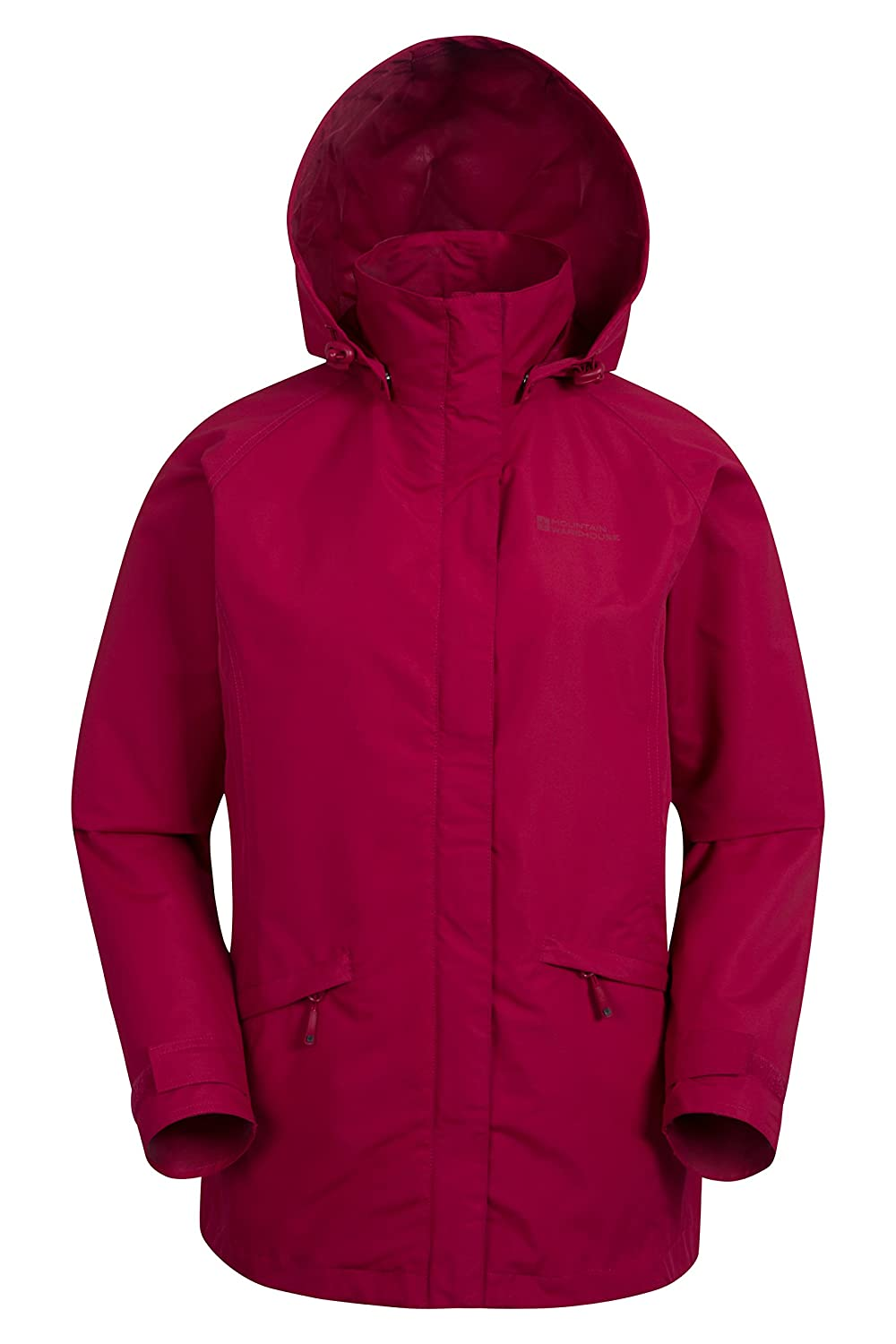 Mountain Warehouse Harridge Womens Shell Jacket -Spring & Summer Coat Fuchsia 8 024917060004